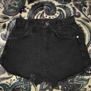 Black Wrangler Shorts